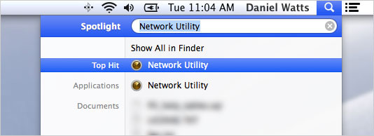 Apple-Network-Utility-Search