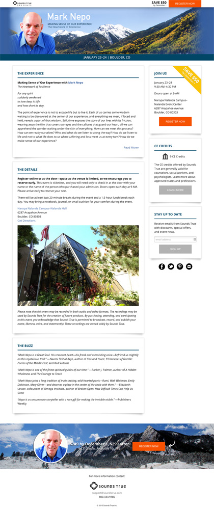 Mark Nepo Boulder 2015 Event Page featured image